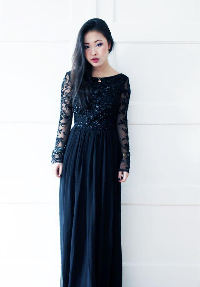 Christmas Dress :) | Lange schwarze kleider, Modestil ...