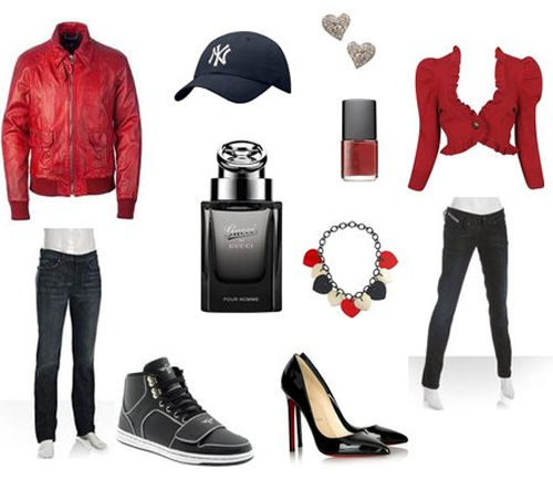 Cute Valentine's Day Outfits   Valentine's Style Inspiration: His & Hers  Outfits   The Fashion - Cute Valentine's Day Outfits Valentine's Style Inspiration: His