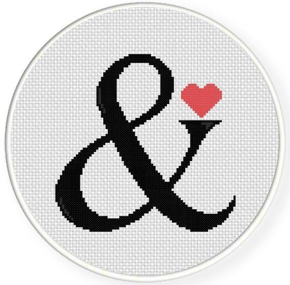 (10) Name: 'Embroidery : Ampersand Cross Stitch Pattern