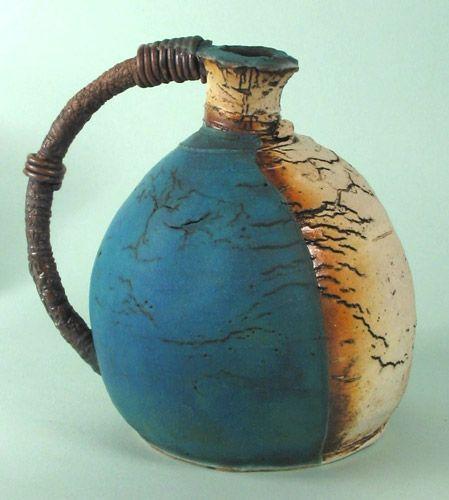 Art | アート | искусство | Arte | Kunst | Sculpture | 彫刻 | Skulptur | скульптура | Scultura | Escultura | John Kershaw | Long handled blue vase