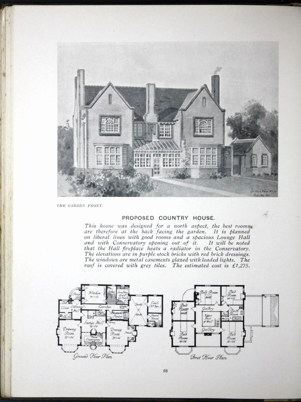Historic Italianate House Plans Best Of Some Small Houses Illustrated With Frontispie In 2020 House Plans Beach House Plans How To Plan