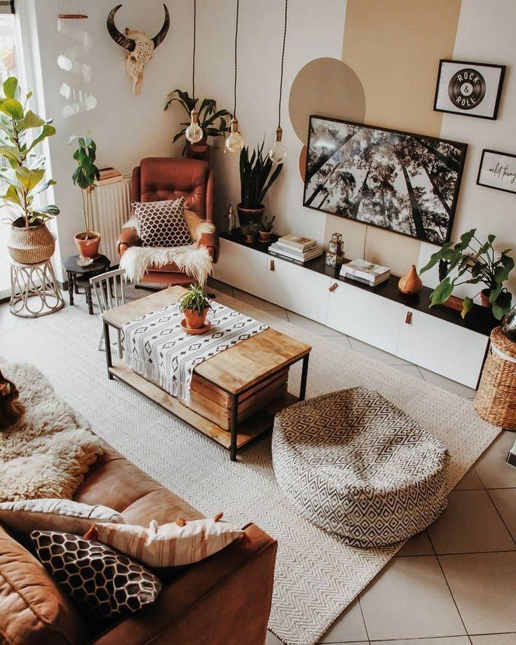 Boho Living Room Decor #boholivingroom