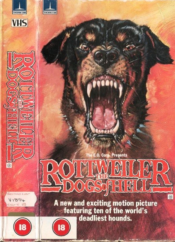 Rottweiler Dogs Of Hell 1982 Horrorkiller Animals Vhs Dvd