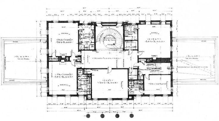 Swan House Floor Plan 2 Architectural Floor Plans Vintage House Plans Luxury House Plans