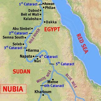kingdom of kush map of nubia once kush broke free of their tie