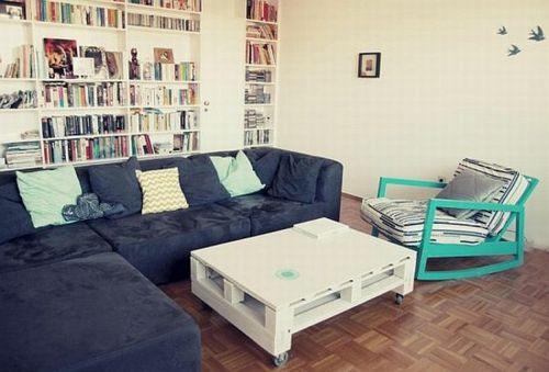 mbel aus holz paletten wei tisch glatt tischplatte wohnzimmer - Wohnzimmer Paletten