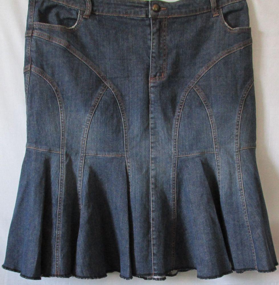 Venezia Plus Size Blue Denim Jean Al-Line Skirt Size 18 #Venezia ...