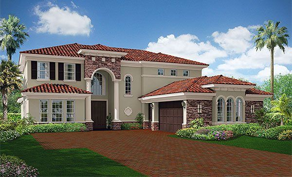 Stonegate New Home Plan In Rialto Estates Collection New House Plans Mediterranean Homes Mansions Homes