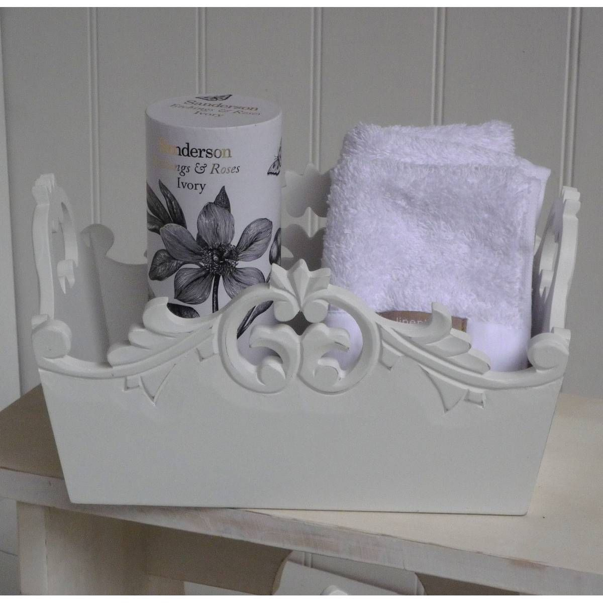 Bathroom Storage Boxes Shabby Chic