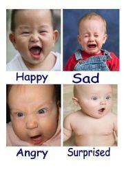 kids emotion faces   Emotions flash cards   Emotional ...