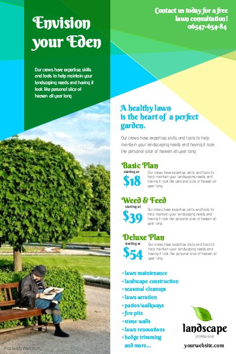 Create amazing lawn care flyers by customizing our easy to use ...