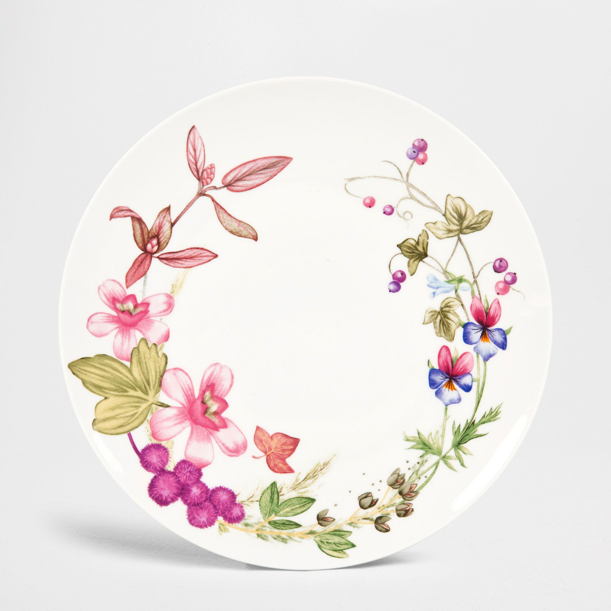 Plato llano flor silvestre set de 4 vajilla mesa for Platos vajilla