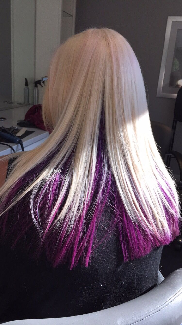 Bree Salon Goldwell color joico color pink hair purple hair ...