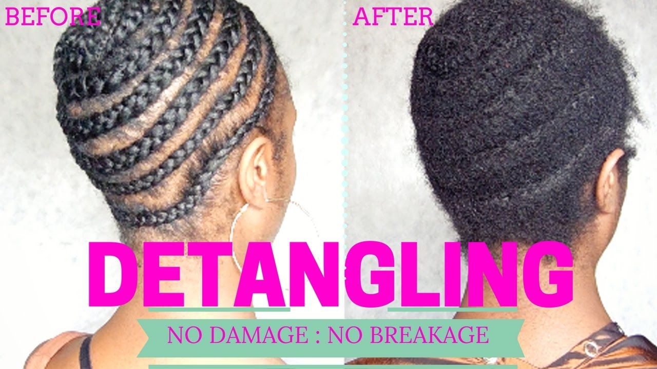 Old Braids Takedown How To Safely Detangle Matted Tangled Hair