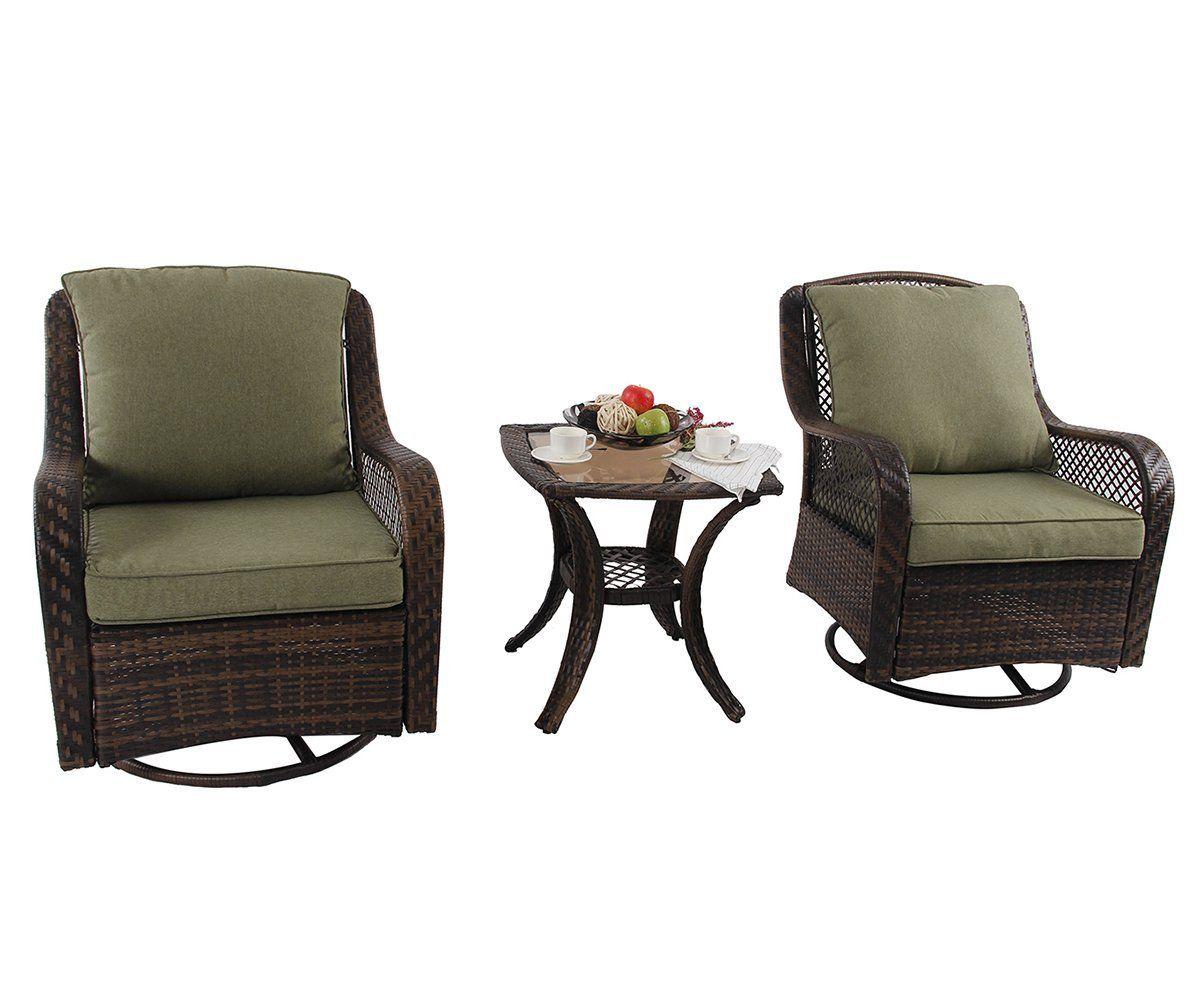 phi villa rattan swivel rocking chairs