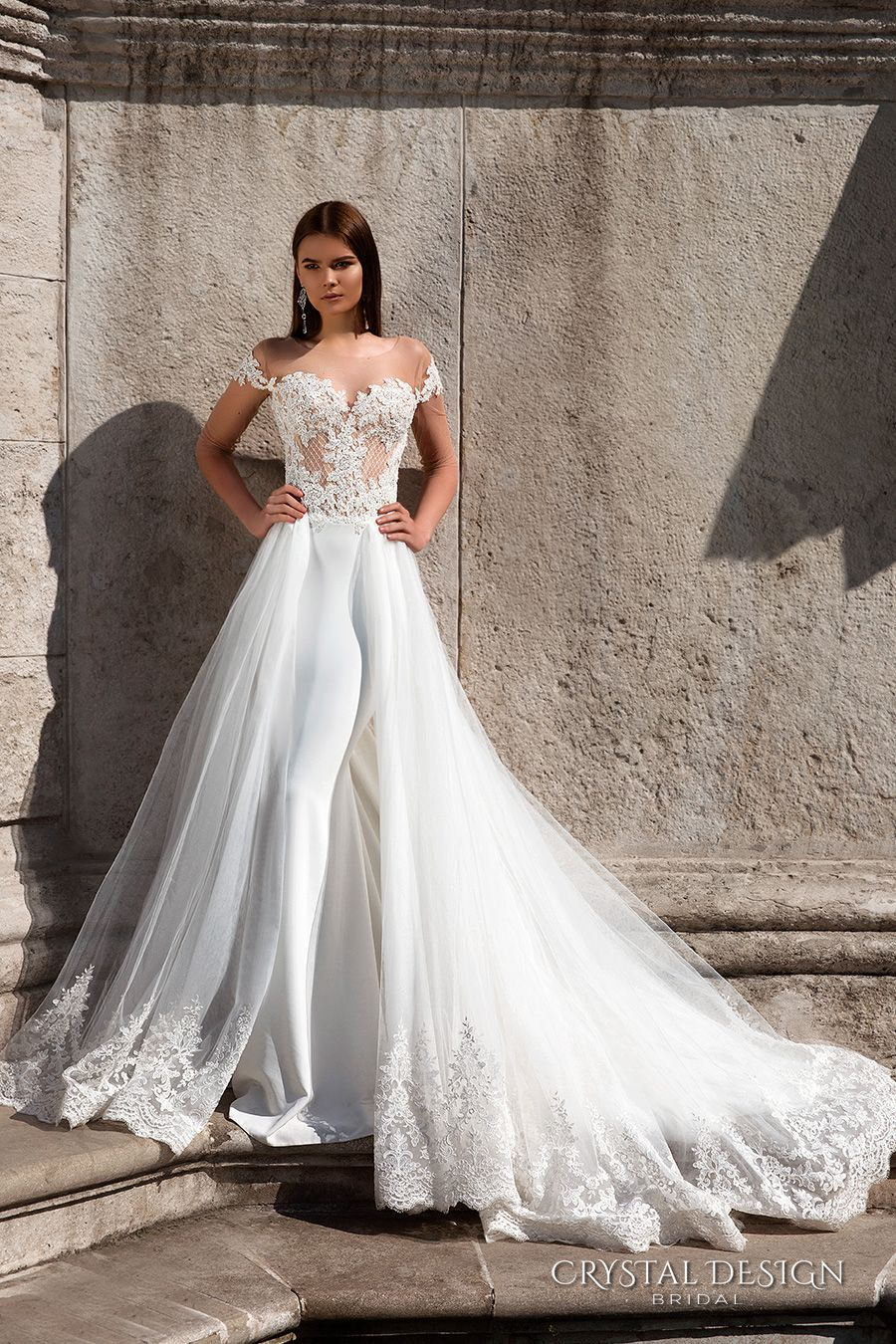 Wedding dress short in front with long train  Crystal Design  Wedding Dresses  Wedding Inspirasi  Pinterest