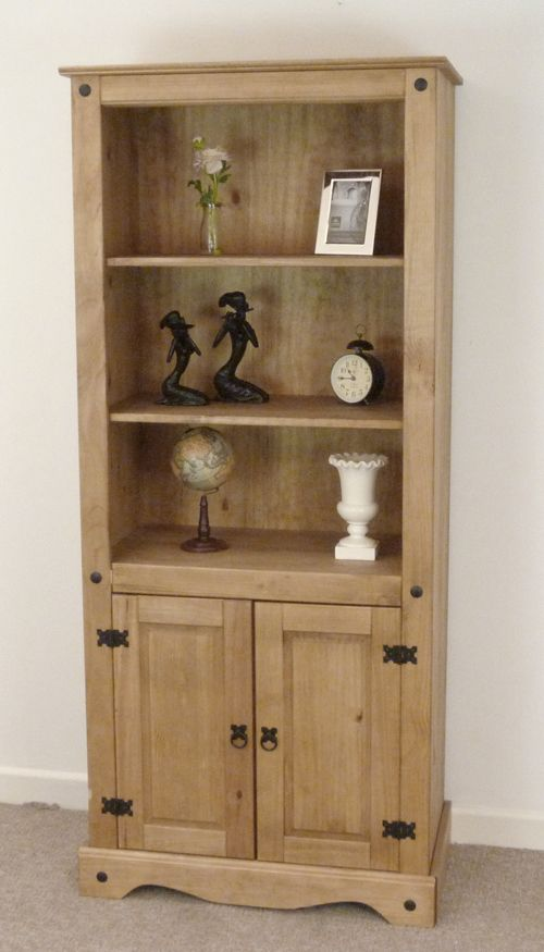 MEXICAN PINE CORONA MEDIUM BOOKCASE SHELVES *FREE NEXT DAY DELIVERY