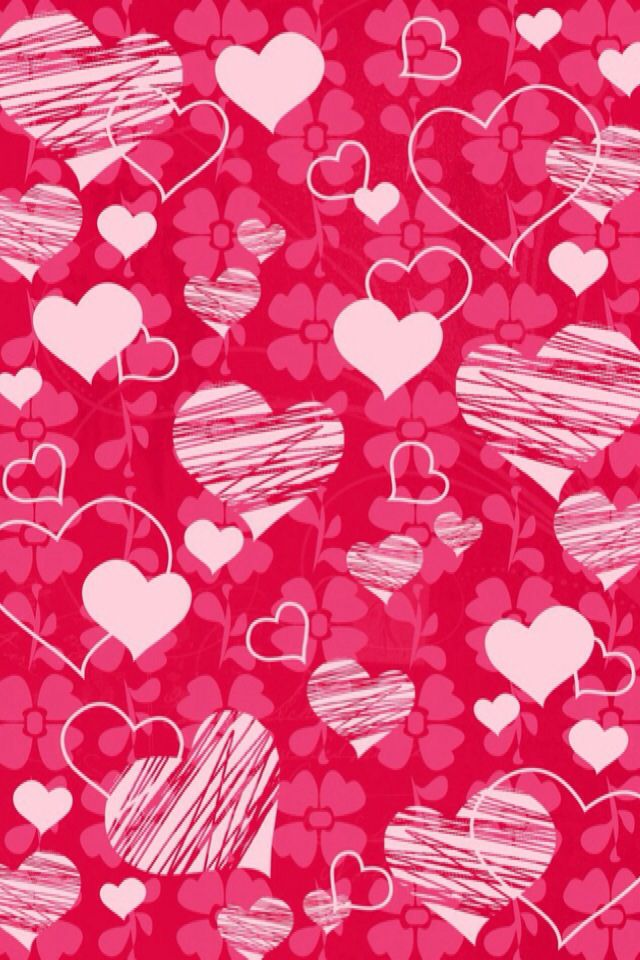 Iphone Wallpaper Valentine S Day Hearts Tjn Iphone Walls 1