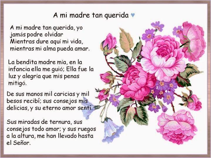 Poemas Canciones Para El Dia De La Madre Para Niños Me Gusta Dedicada A Mi Madre Con Imagenes Poemas Para Mama