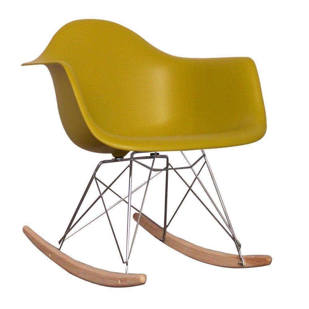 Eames Style RAR Rocking (Nursing) Chair Mustard Amazon