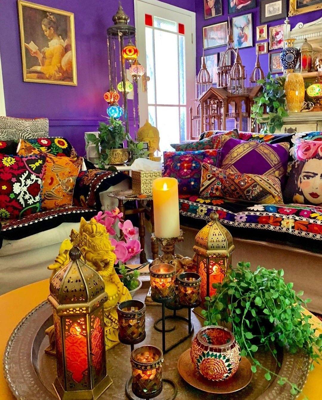 Pin By Pamela Mamani On Boho Decor Bohemian Living Room Decor Bohemian Bedroom Decor Bohemian Decor Gypsy living room decor