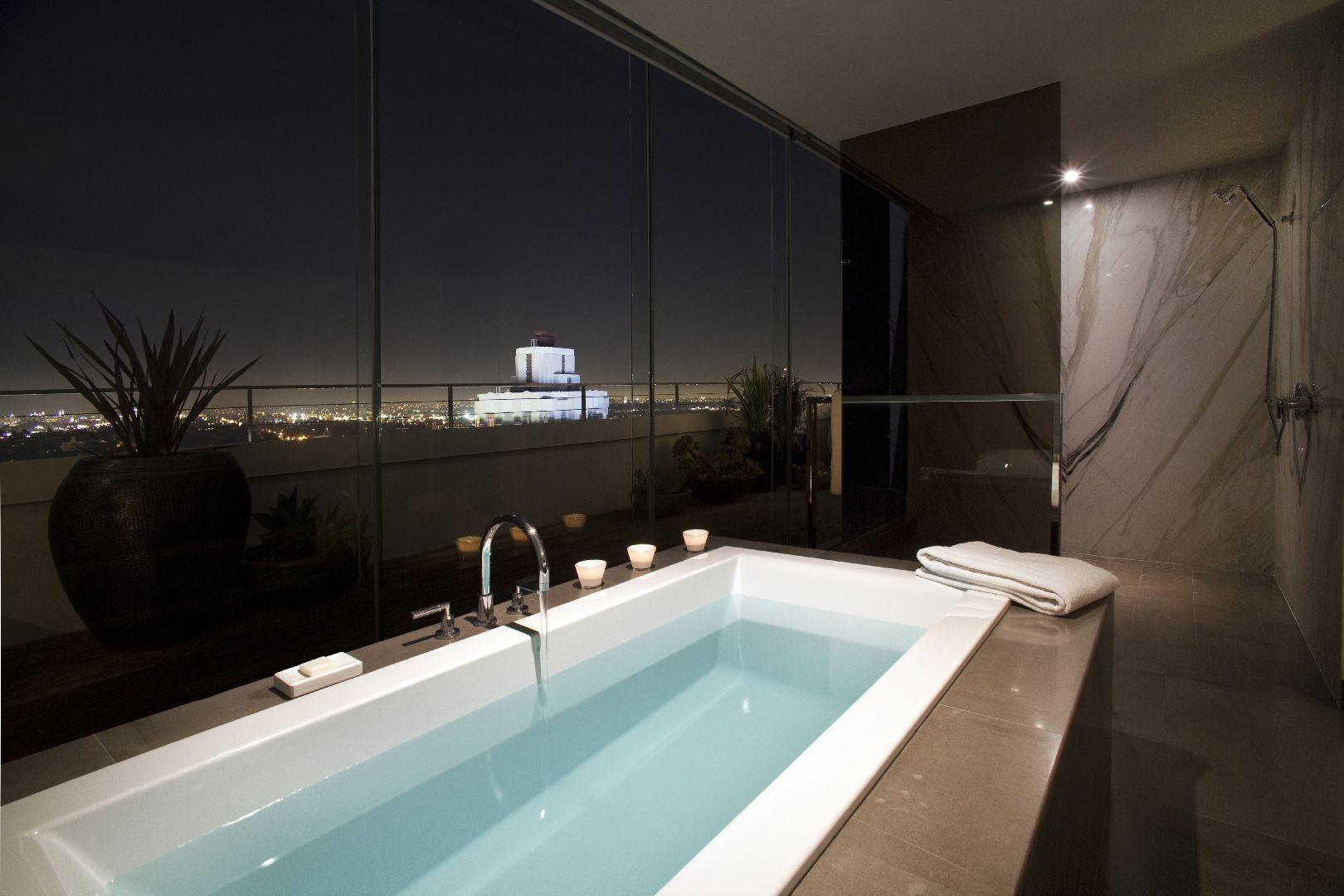 Hotel Andaz West Hollywood Los Angeles Ca Five Star Alliance Luxury Hotel Bathroom Penthouse Living Bath Hotels