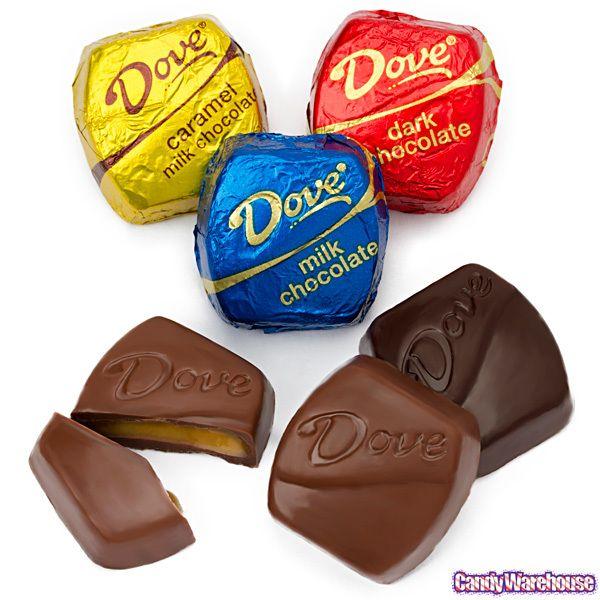 Dove Chocolates Blue Milk Chocolate And Yellow Milk Chocolate