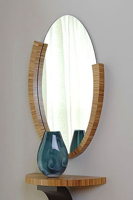 20 Diy Round Mirror Frame Designs Made Of Wood Wood Mirror Wooden Mirror Mirror Frame Diy