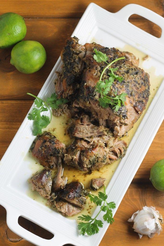Slow Cooker Cilantro Lime Pork Shoulder   StrictlyDelicious.com