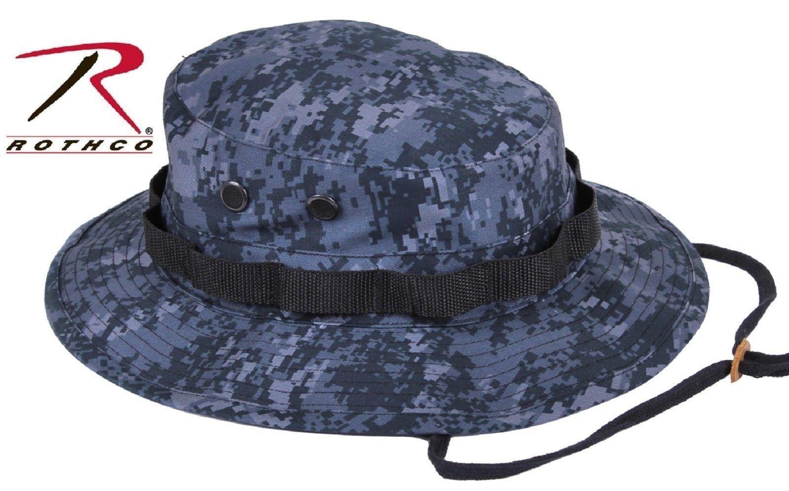 c2512425cb5 Midnight Blue Digital Camo Boonie Hat - Dark Navy   Black Camouflage Bucket  Hats