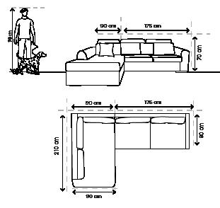 sala esquinera yucatan beige sillones y sof s On dimensiones de sillones para sala