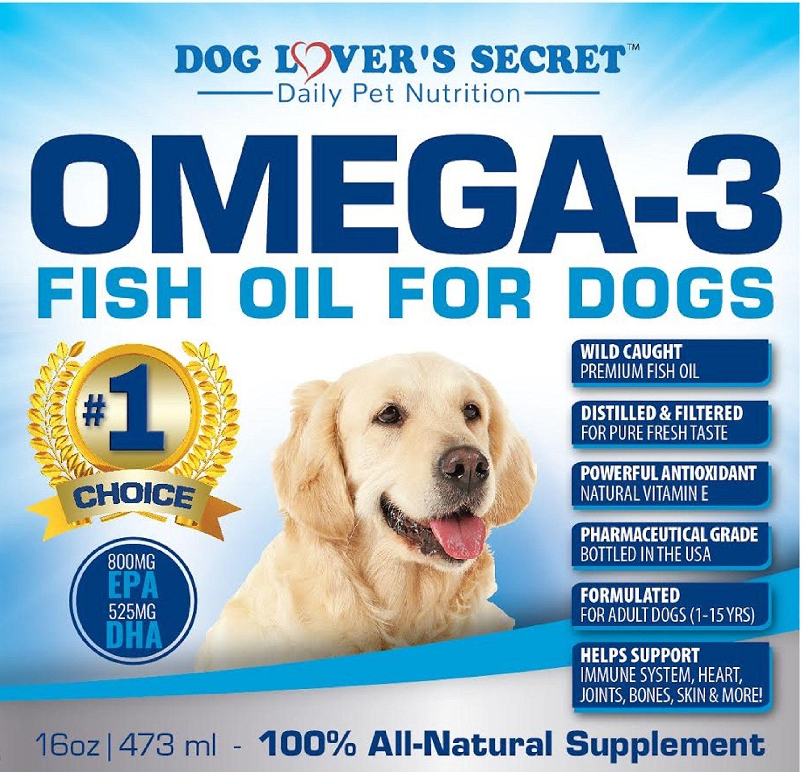 Dog Lovers Secret Omega 3 Fish Oil For Dogs 16 Oz Pump Bottle