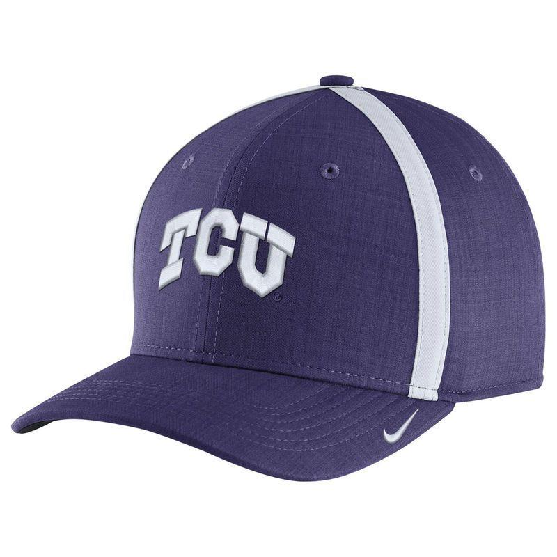 TCU Horned Frogs Nike Sideline AeroBill Adjustable Performance Hat - Purple