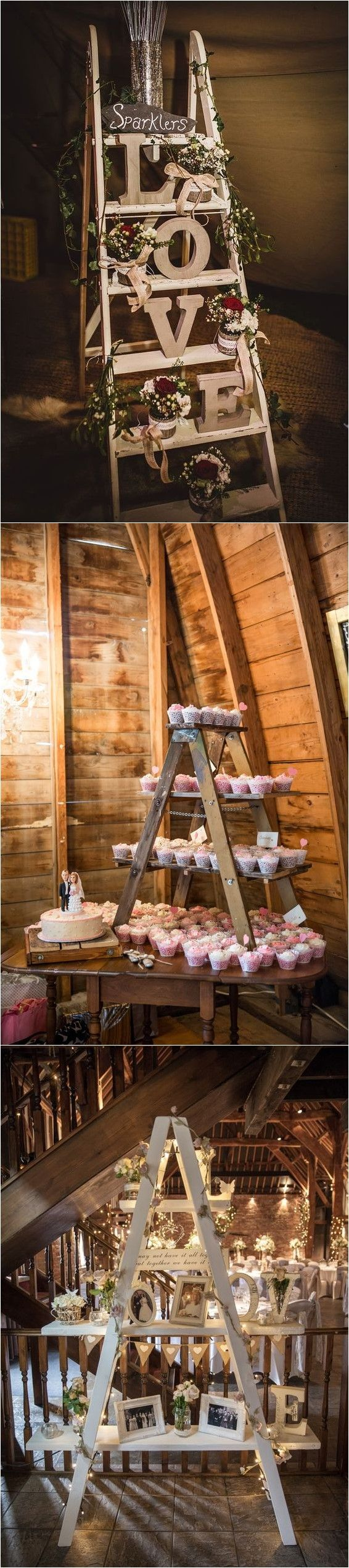 Wedding decoration ideas in the house   Rustic Country Wedding Decoration Ideas with Ladders  new house