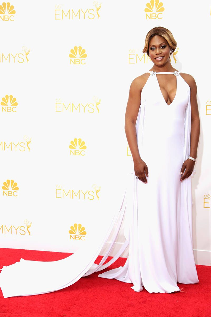 All the Looks from the 2014 Emmy Awards Red Carpet | Laverne cox