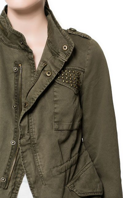 STUDDED JACKET WITH POCKETS - Stock clearance - Woman | ZARA United States