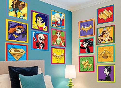 Batman Birthday Party Dc Super Hero Girls Character Wall Decal 5 You Can Get Additional Details A Superhero Room Decor Superhero Wall Mural Superhero Room