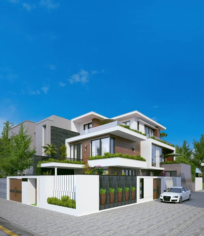 Modern Residential Exterior By Ar Sagar Morkhade: Pin By Yawar Qureshi On Modern Bunglow's