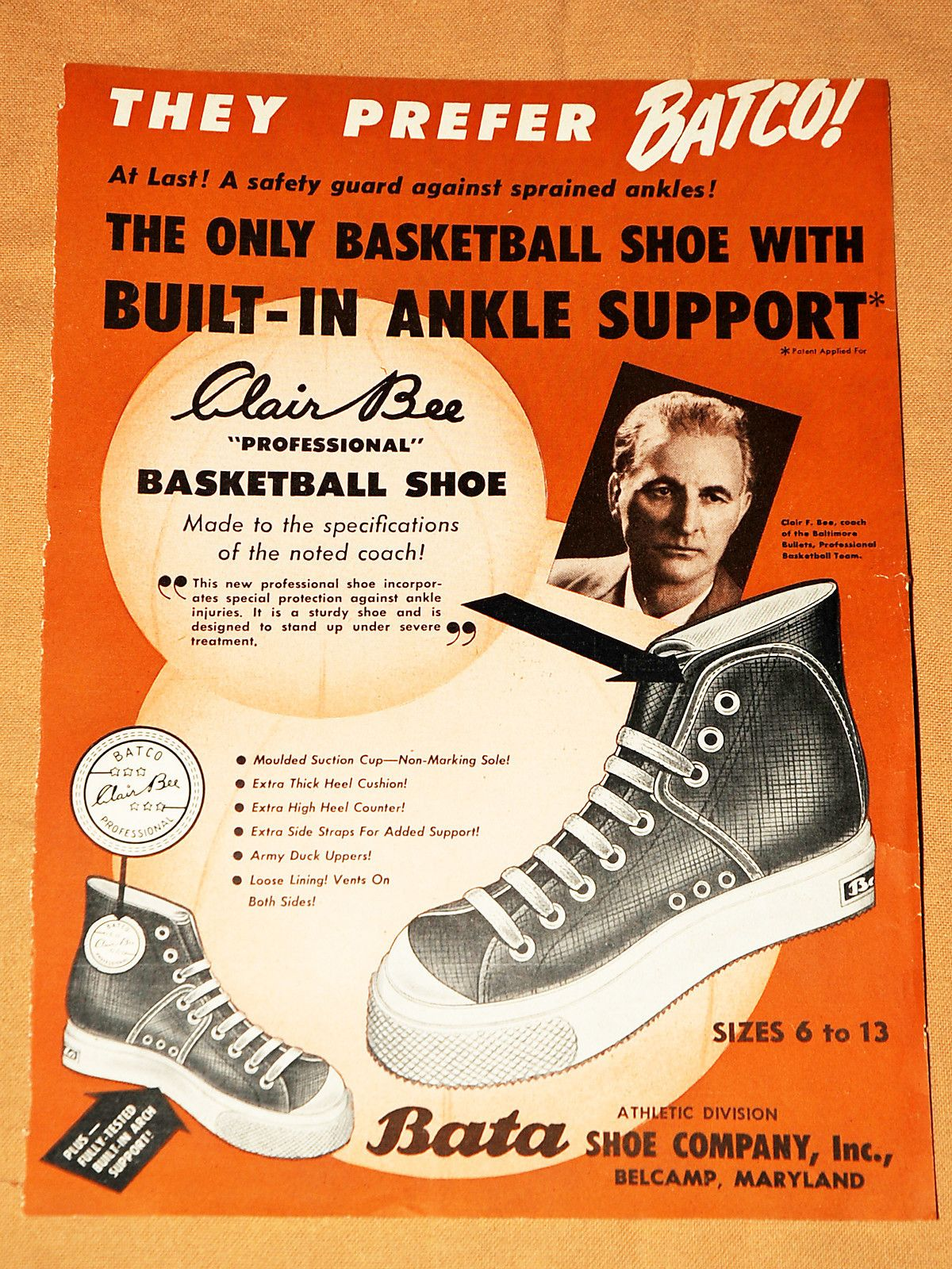 Nike Shoe Basketball Poster