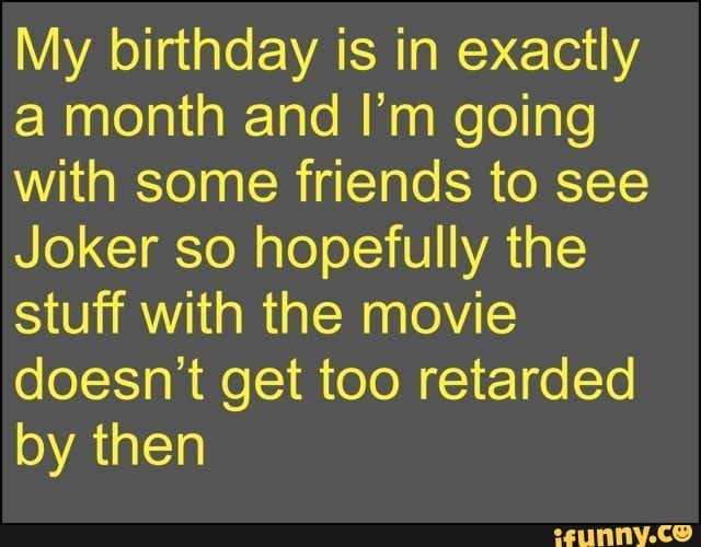 #birthdaymonthmeme