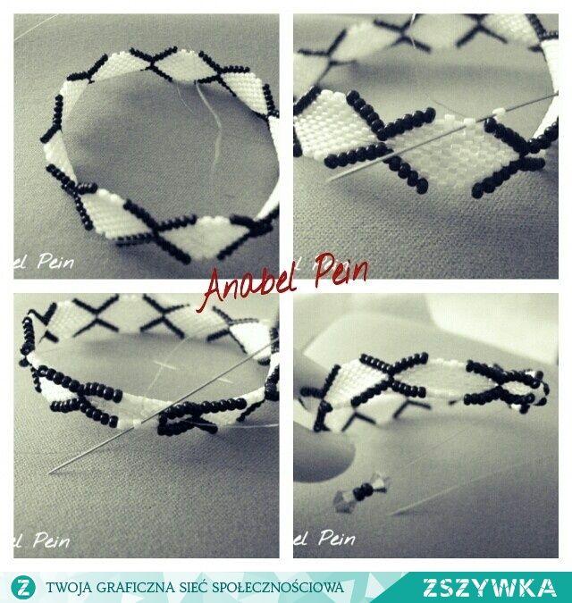 pin von magdalena rapacka auf tutorial beading pinterest armband schmuck und perlenkette. Black Bedroom Furniture Sets. Home Design Ideas