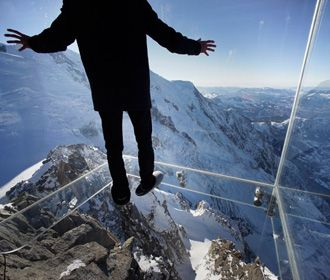 Walk Off The Ledge Of The Tallest Mountain In Europe