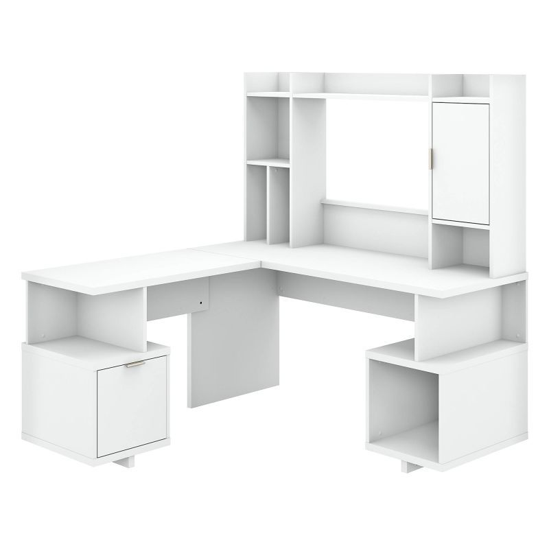 Pin On Jorge White l shaped desk with hutch