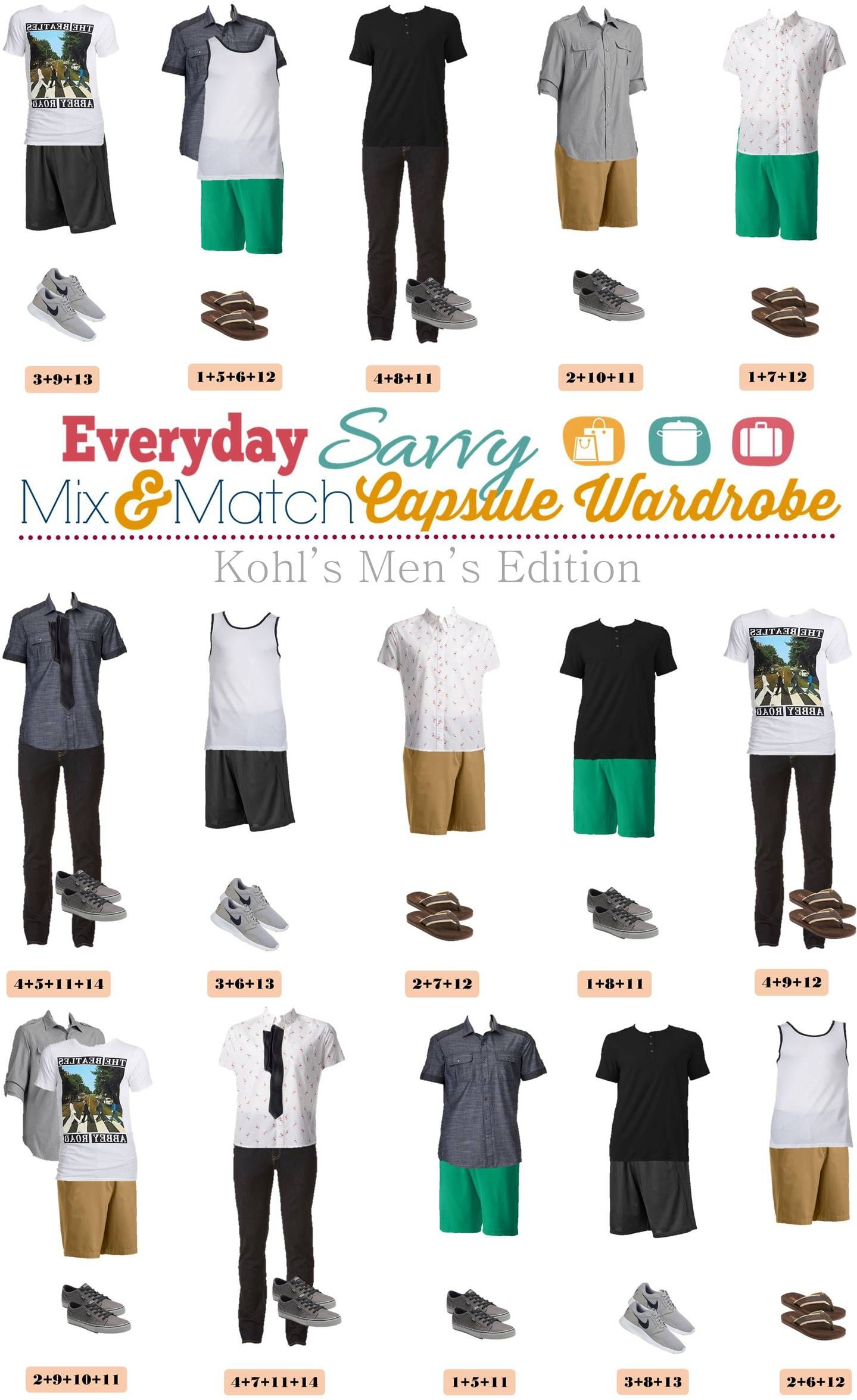 kohls men s capsule wardrobe for spring summer capsule wardrobe