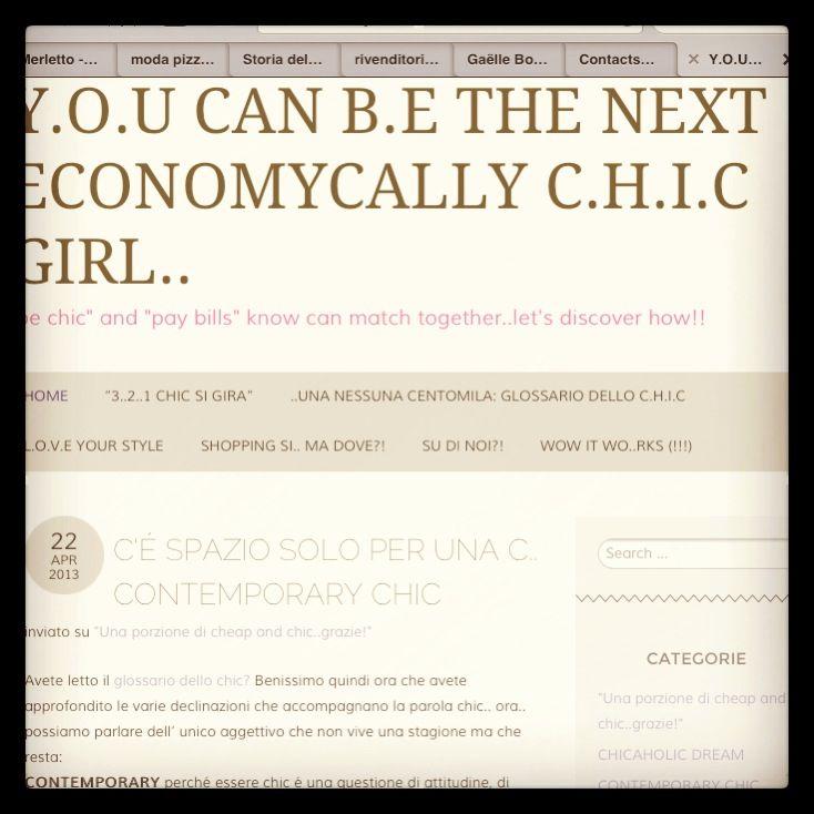 C'É SPAZIO SOLO PER UNA C.. CONTEMPORARY CHIC | Y.O.U CAN B.E THE NEXT ECONOMYCALLY C.H.I.C GIRL.. http://beconomicallychic.com/2013/04/22/ce-spazio-solo-per-una-c-contemporary-chic/
