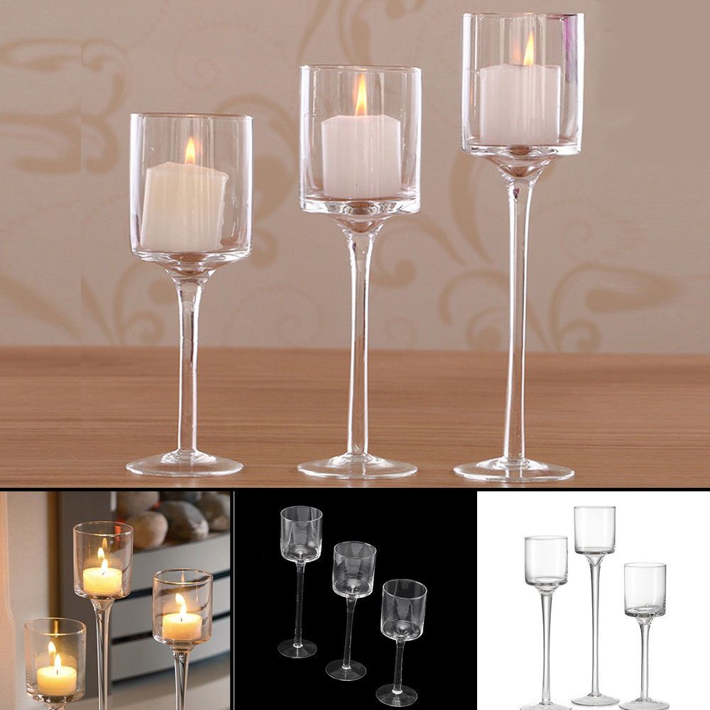 Tall Gl Large Candle Holders