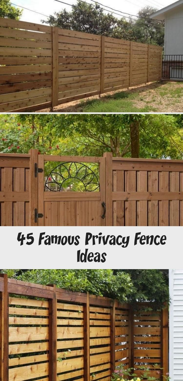 45 Famous Privacy Fence Ideas 45 FAMOUS PRIVACY FENCE IDEAS