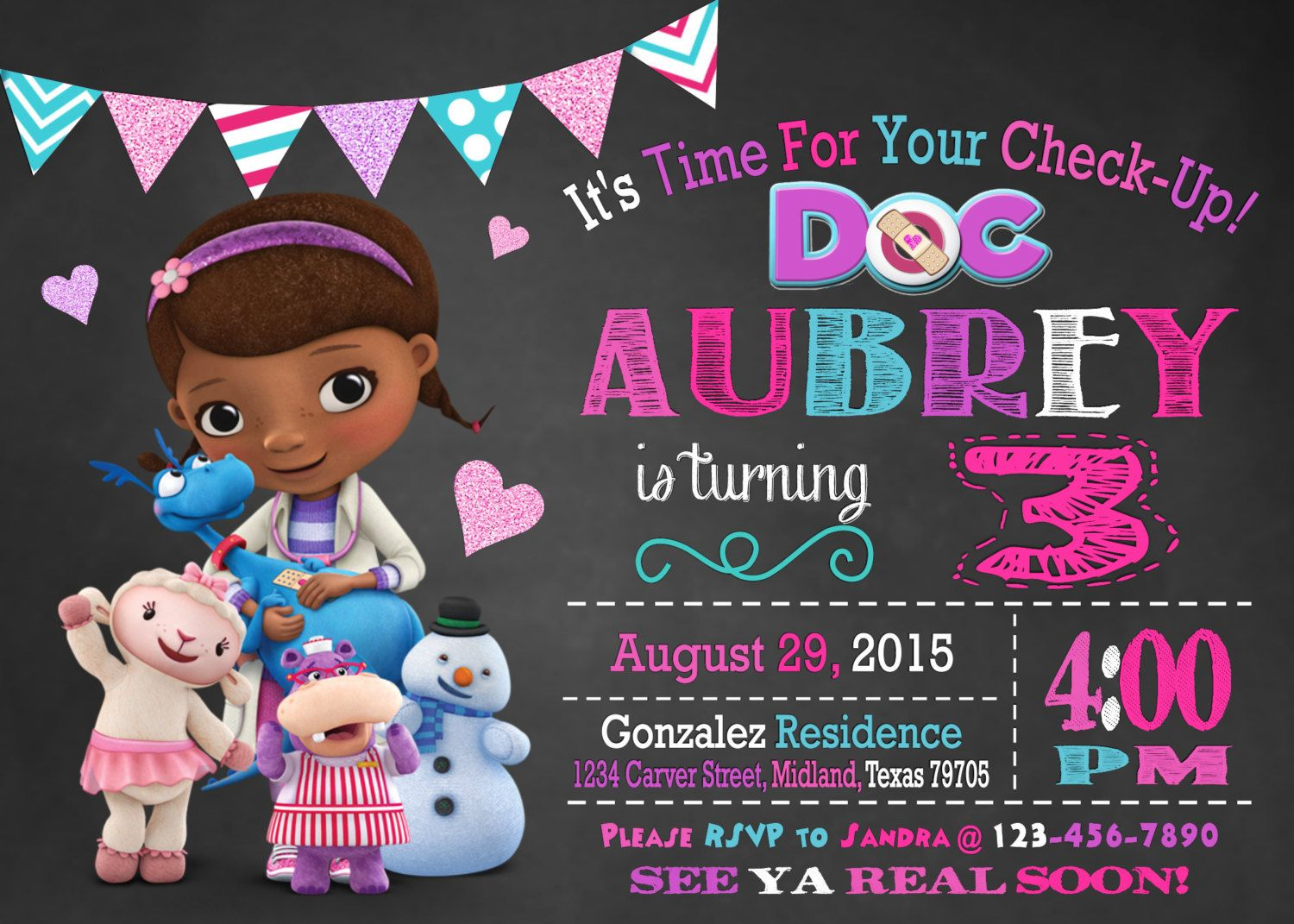 Doc Mcstuffins Birthday Party Planning