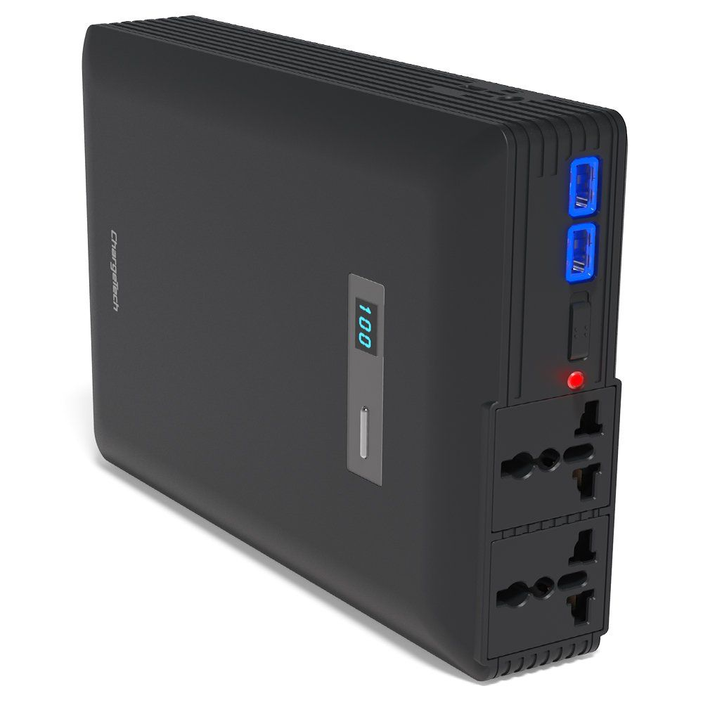 Portable AC Outlet Battery Pack by ChargeTech - 54000mAh 250W / 110V ...
