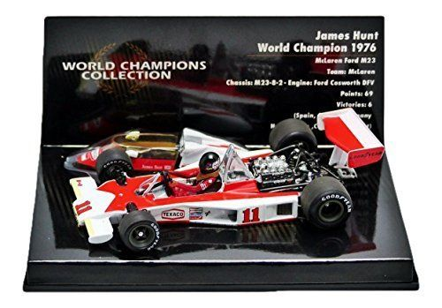 Minichamps 1/43 McLaren Ford M23 J. Hunt 1976 World Champion. Parallel import goods. 1 / 43scale Minichamps MINICHAMPS McLaren Ford M23 James Hunt World Champion 1976 McLaren Ford J. Hunt World Champion.